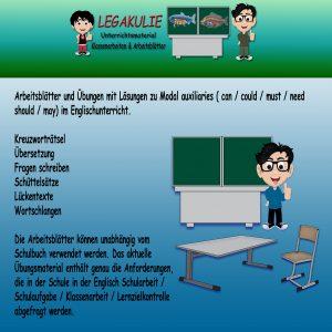 Modal auxiliaries Englisch Übungen 5.Klasse