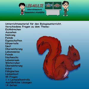 Eichhörnchen Biologie Übungsblätter Lernzielkontrolle