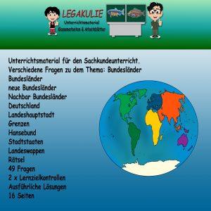 Bundesländer Sachkunde Übungen Lernzielkontrolle