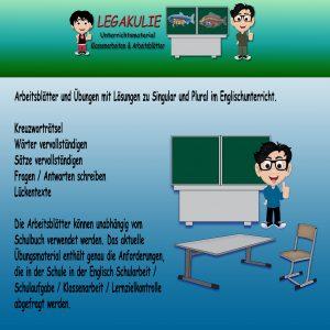 Singular Plural Englisch Grammatik Übungsblätter Schularbeit