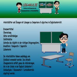 Comparison of adjectives Schularbeit Grammatik Englisch