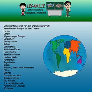 Europa Klassenarbeit Schularbeit Lernzielkontrolle PDF