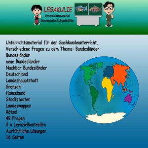 HSU Bundesländer Arbeitsblatt Schulprobe Übungen PDF