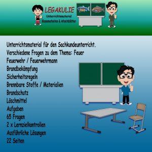HSU Feuer 3.Klasse Arbeitsblatt Übungen Schulprobe