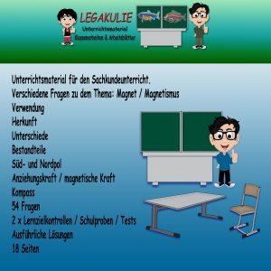 HSU Magnet Arbeitsblatt Lernzielkontrolle Übungen