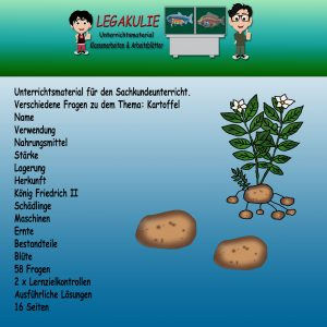 HSU Kartoffel 3.Klasse Übungen Arbeitsblätter PDF