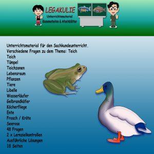 HSU Teich 4.Klasse Arbeitsblatt Übungen Schularbeit
