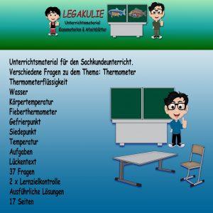 HSU Thermometer 2.Klasse Aufgaben Übungen PDF