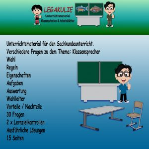 HSU Klassensprecher 3.Klasse Arbeitsblätter Übungen