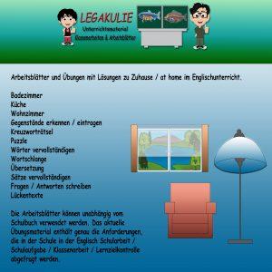 At Home / Zuhause Englisch 5.Klasse Übungen PDF