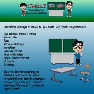 Days / Months Englisch 5.Klasse Übungsaufgaben PDF
