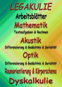 Legakulie Dyskalkulie Arbeitsblätter Übungen PDF