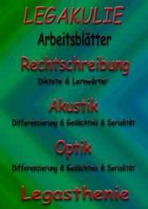 Legakulie Legasthenie Arbeitsblätter Übungen PDF