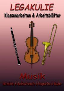Musik Klassenarbeiten Arbeitsblätter Schularbeit PDF