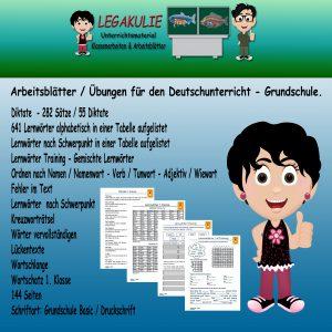 Deutsch Rechtschreibung 1. Klasse Arbeitsblatt PDF