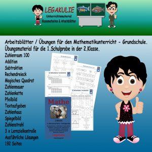 Schulprobe Lernzielkontrolle 2.Klasse Mathematik