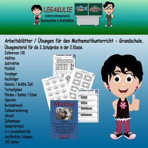 2.Klassenarbeit Lernzielkontrolle 2.Klasse Mathematik