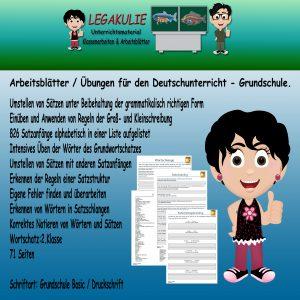 Satzbau Satzgestaltung Deutsch 2.Klasse Arbeitsblatt