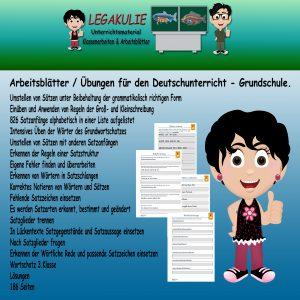 Deutsch Satzbau Satzgestaltung 3.Klasse Arbeitsblatt