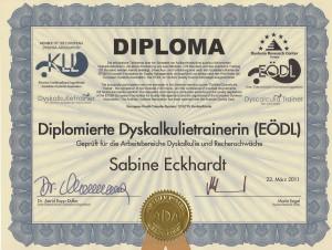 Diplomierte Dysakalkulietrainerin EDÖL