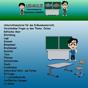 Ostsee Erdkunde Lernzielkontrolle Klassenarbeit