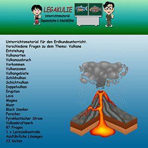 Vulkane Erdkunde Übungen Klassenarbeit Lernzielkontrolle